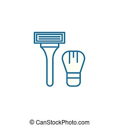 Shaving linear icon concept. Shaving line vector sign, symbol, illustration.