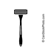 Shaving razor flat vector icon