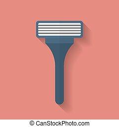 Shaving Razor icon. Flat style