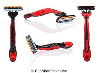shaving razor isolated on white background