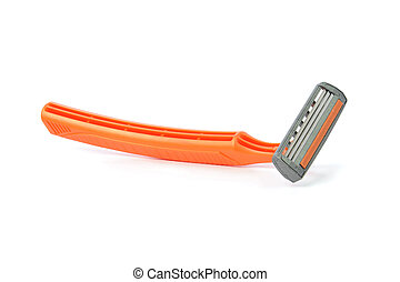 shaving razor on a white background