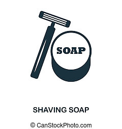 Shaving Soap icon. Flat style icon design. UI. Illustration of shaving soap icon. Pictogram isolated on white. Ready to use in web design, apps, software, print.