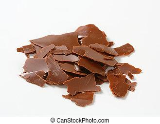 shavings, chocolade