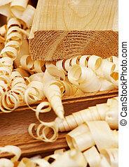Shavings-woody texture