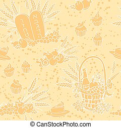 Shavuot seamless pattern background