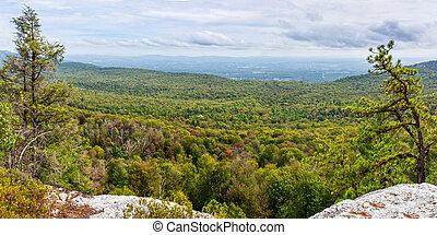 shawangunk, ås, panorama