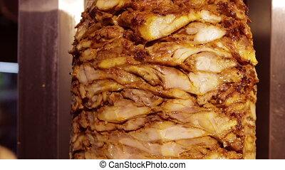 Shawarma grilling meat Turkey food