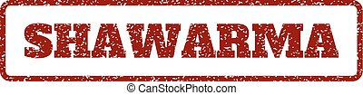 Shawarma Rubber Stamp