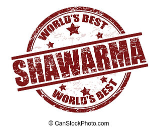 Shawarma stamp - Grunge rubber stamp with the word shawarma...