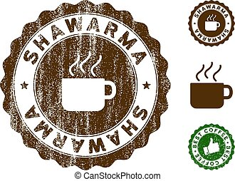 Shawarma Stamp Seal with Dirty Effect