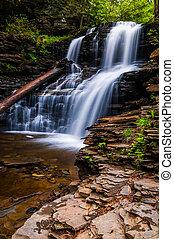 Shawnee Falls, at Ricketts Glen State Park, Pennsylvania.