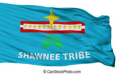 Shawnee Tribe Of Oklahoma Indian Flag Isolated Seamless Loop...
