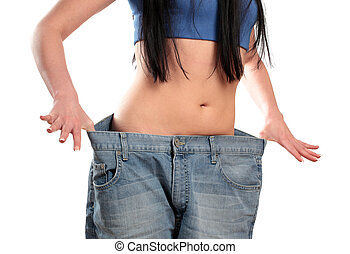 she lost weight in jeans