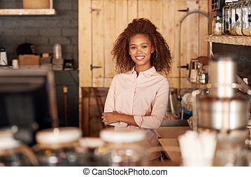 She only serves the best in her cafe