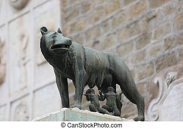 she-wolf in Rome with Remus and Romulus - she-wolf in Rome ...