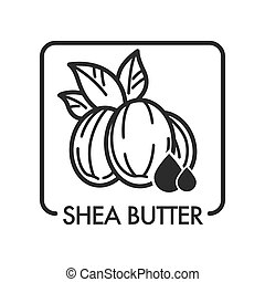 Shea butter organic product used in cosmetology for skin ...