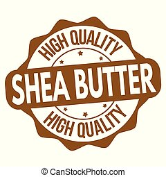 Shea butter sign or stamp on white background, vector ...