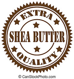 Shea Butter-stamp - Rubber stamp with text Shea Butter, ...