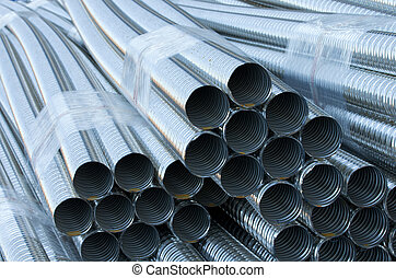 Sheaf of ribbed pipes