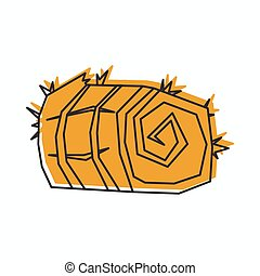 Sheaf of wheat icon in doodle style vector illustration for design and web