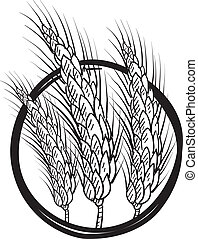 Sheaf of wheat vector - Doodle style sheaf of wheat ...