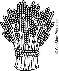 Sheaf of wheat, vector flat isolated illustration