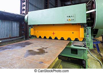 shear cutting machine for metal sheets