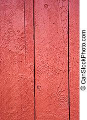 Shed door - Red shed door detail