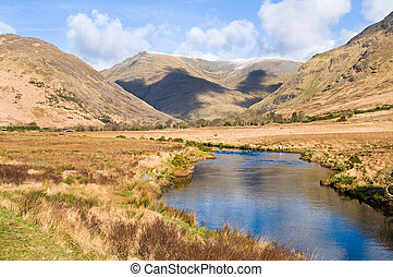 Sheefry Hills, Mayo Co., Ireland - picturesque landscape in...