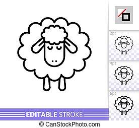 sheep, αρνί , απλό , μικροβιοφορέας , κοιμάμαι , αδυνατίζω αμυντική γραμμή , εικόνα