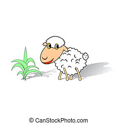 sheep, αστείος , αγαθός φόντο