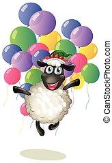 sheep, μπαλόνι , γραφικός