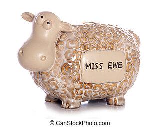 sheep, お嬢さん, あなた, 装飾