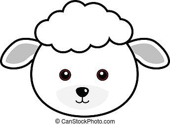 sheep, かわいい, ベクトル