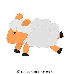 sheep, 単一, アイコン