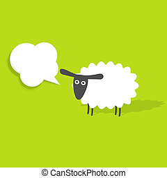 sheep, 泡, スピーチ