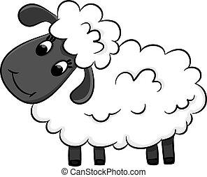 sheep., 漫画, イラスト, ベクトル