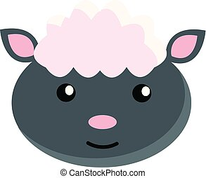 sheep, 白色, 矢量, 背景, 插圖