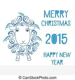 sheep, 2015, símbolo, nuevo