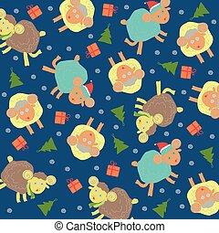 Sheep background christmas
