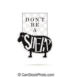 sheep, biały, rysunek, ilustracja, ikona