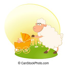 sheep, carrozzina, scarabocchio