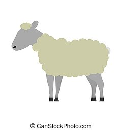 sheep cartoon animal wild life vector illustration