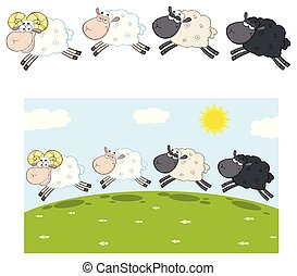 Sheep Cartoon Character Collection - 10