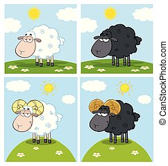 Sheep Cartoon Character Collection -2