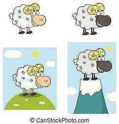Sheep Cartoon Character Collection - 9