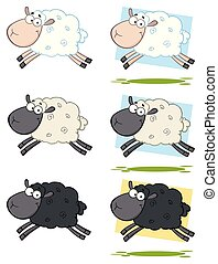 Sheep Cartoon Character Collection -