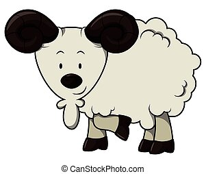 Sheep cartoon illustration