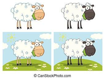 Sheep Cartoon Mascot Character Collection - 1
