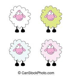 sheep cartoon vector illustration